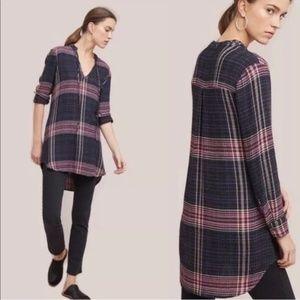 ANTHROPOLOGIE Versify Tunic Dress Plaid {Y24}